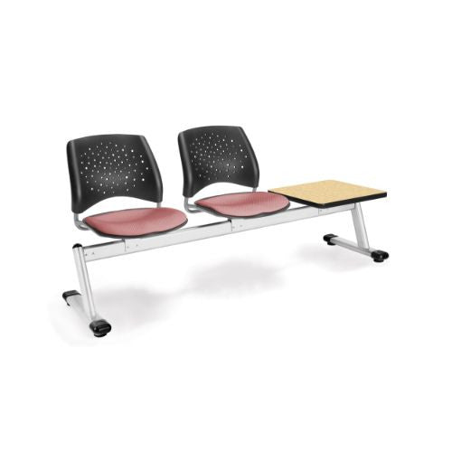 OFM Stars 3-Unit Beam Seating with 2 Seats & 1 Table; UPC:845123007143