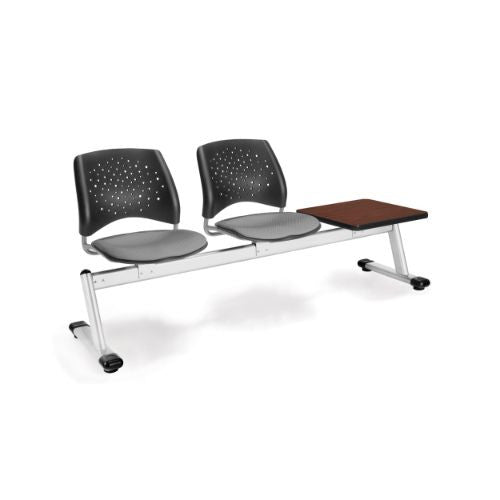 OFM Stars 3-Unit Beam Seating with 2 Seats & 1 Table; UPC:845123007372