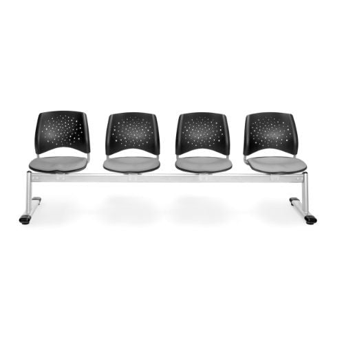 OFM Stars 4-Unit Beam Seating with 4 Seats; UPC:845123007600