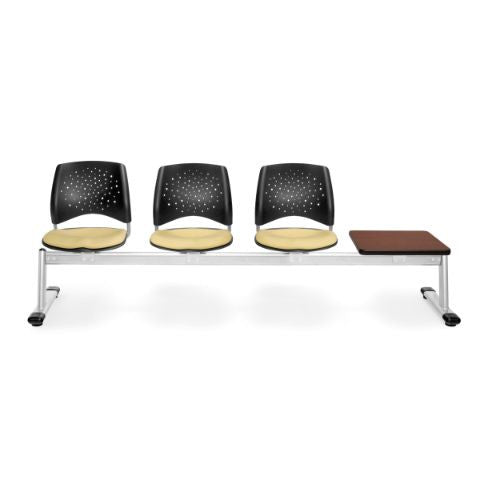 OFM Stars 4-Unit Beam Seating with 3 Seats & 1 Table; UPC:845123007822