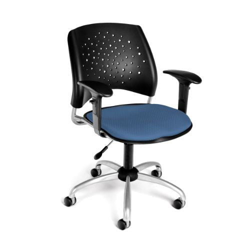 Buy Ofm Stars Swivel Chair With Arms In Cornflower Blue