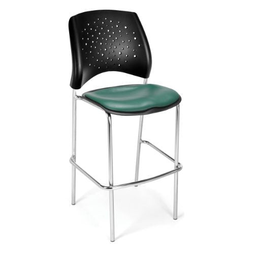 OFM Stars Cafe Height Vinyl Chrome Chair; UPC:845123004166