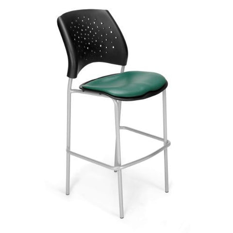 OFM Stars Cafe Height Vinyl Silver Chair; UPC:845123012857