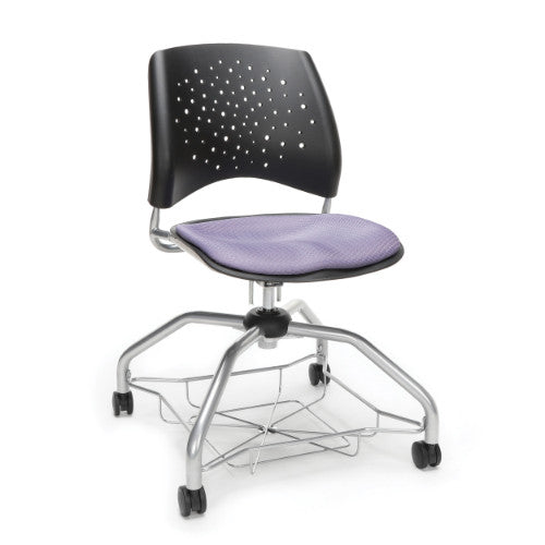 OFM Stars Foresee Student Chair w/ Fabric Seat Cushion, Lavender  ; UPC: 845123093924