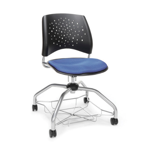 OFM Stars Foresee Student Chair w/ Fabric Seat Cushion, Colonial Blue  ; UPC: 845123093948