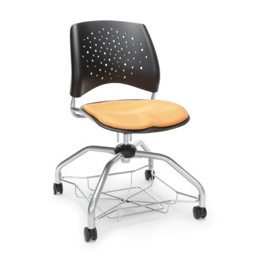 OFM Stars Foresee Student Chair w/ Fabric Seat Cushion, Golden Flax  ; UPC: 845123093955