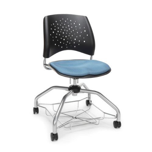 OFM Stars Foresee Student Chair w/ Fabric Seat Cushion, Crnflwer Blue  ; UPC: 845123093962