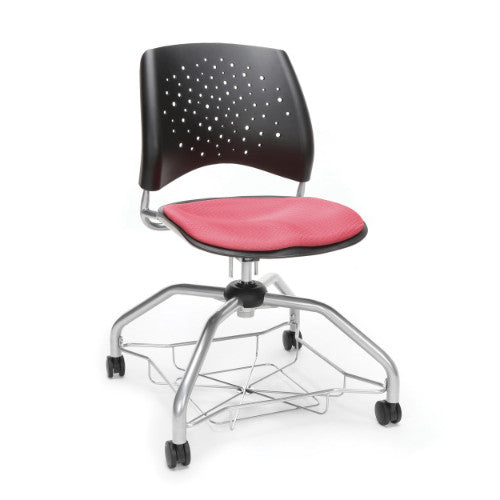 OFM Stars Foresee Student Chair w/ Fabric Seat Cushion, Coral Pink  ; UPC: 845123093986