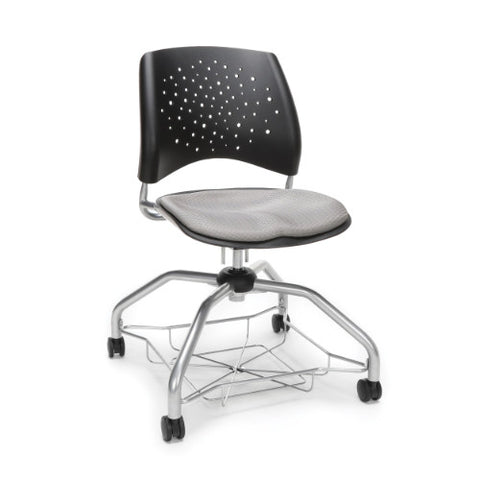 OFM Stars Foresee Student Chair w/ Fabric Seat Cushion, Putty  ; UPC: 845123094044