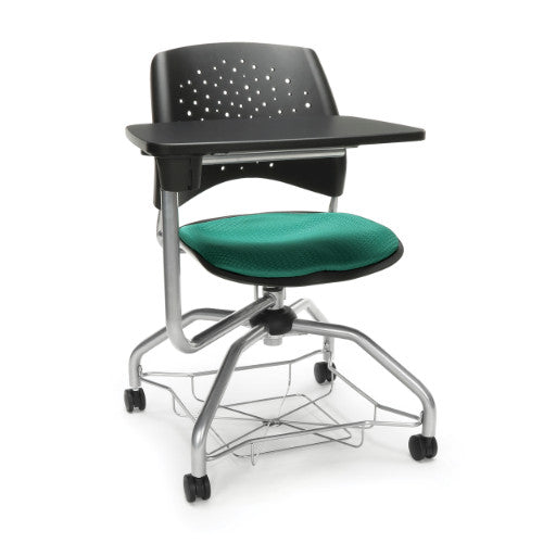 OFM Stars Foresee Student Tablet Chair w/ Fabric Seat Cushion, Green  ; UPC: 845123094136