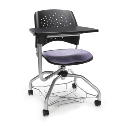 OFM Stars Foresee Tablet Chair w/ Fabric Seat Cushion, Lavender  ; UPC: 845123094143