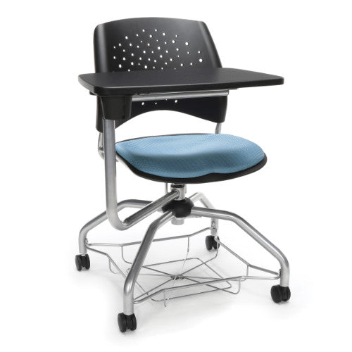OFM Stars Foresee Tablet Chair w/ Fabric Seat Cushion, Blue  ; UPC: 845123094181