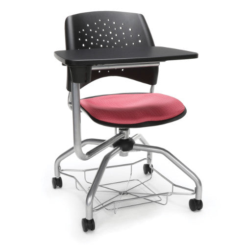 OFM Stars Foresee Tablet Chair w/ Fabric Seat Cushion, Coral Pink  ; UPC: 845123094204
