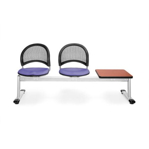 OFM Moon 3-Unit Beam Seating with 2 Seats & 1 Table; UPC:845123008485