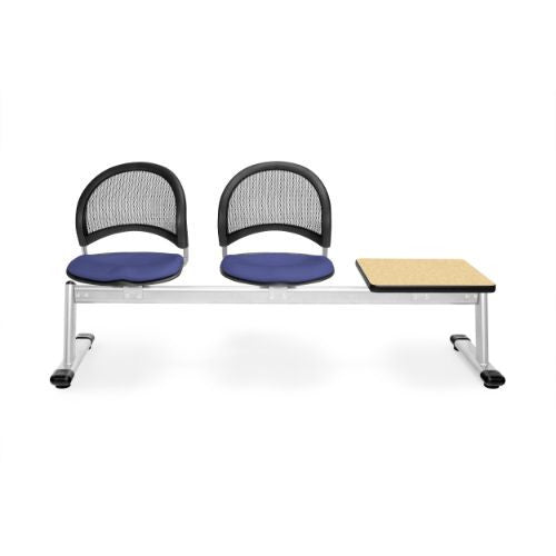 OFM Moon 3-Unit Beam Seating with 2 Seats & 1 Table; UPC:845123008560