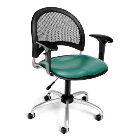 OFM Moon Swivel Vinyl Chair with Arms ; UPC: 811588012114