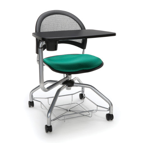 OFM Moon Foresee Tablet Chair w/ Fabric Seat Cushion, Shamrock Green  ; UPC: 845123094570