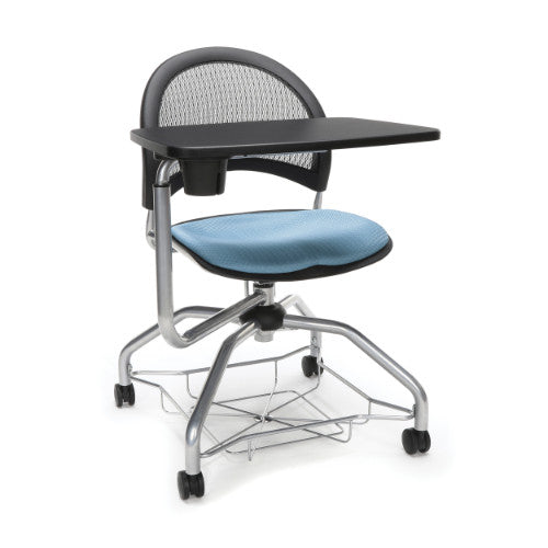 OFM Moon Foresee Tablet Chair w/ Fabric Seat Cushion, Cornflower Blue  ; UPC: 845123094624