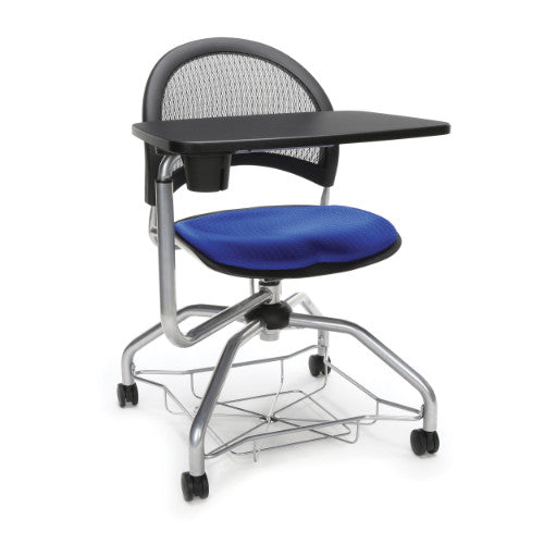 OFM Moon Foresee Tablet Chair w/ Fabric Seat Cushion, Royal Blue  ; UPC: 845123094662