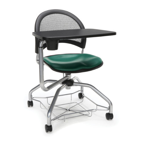 OFM Moon Foresee Tablet Chair w/ Vinyl Seat Cushion, Teal  ; UPC: 845123094747