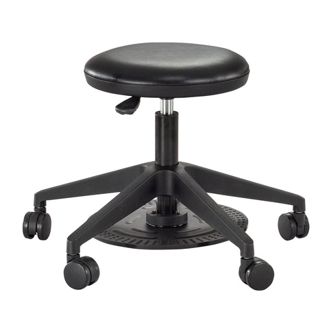 Safco Products Foot Pedal Lab Stool 3437BL(Image 1)
