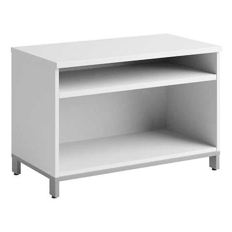 Bush Business Furniture Momentum Collection 36W x 24H Open Storage in White ; UPC: 042976458782 ; Image 1