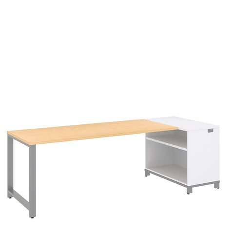 Bush Business Furniture Momentum 72W x 30D Desk with 30H Open Storage in Natural Maple ; UPC: 042976010584 ; Image 1