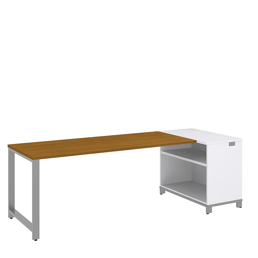 Bush Business Furniture Momentum 72W x 30D Desk with 30H Open Storage in Modern Cherry ; UPC: 042976010591 ; Image 1