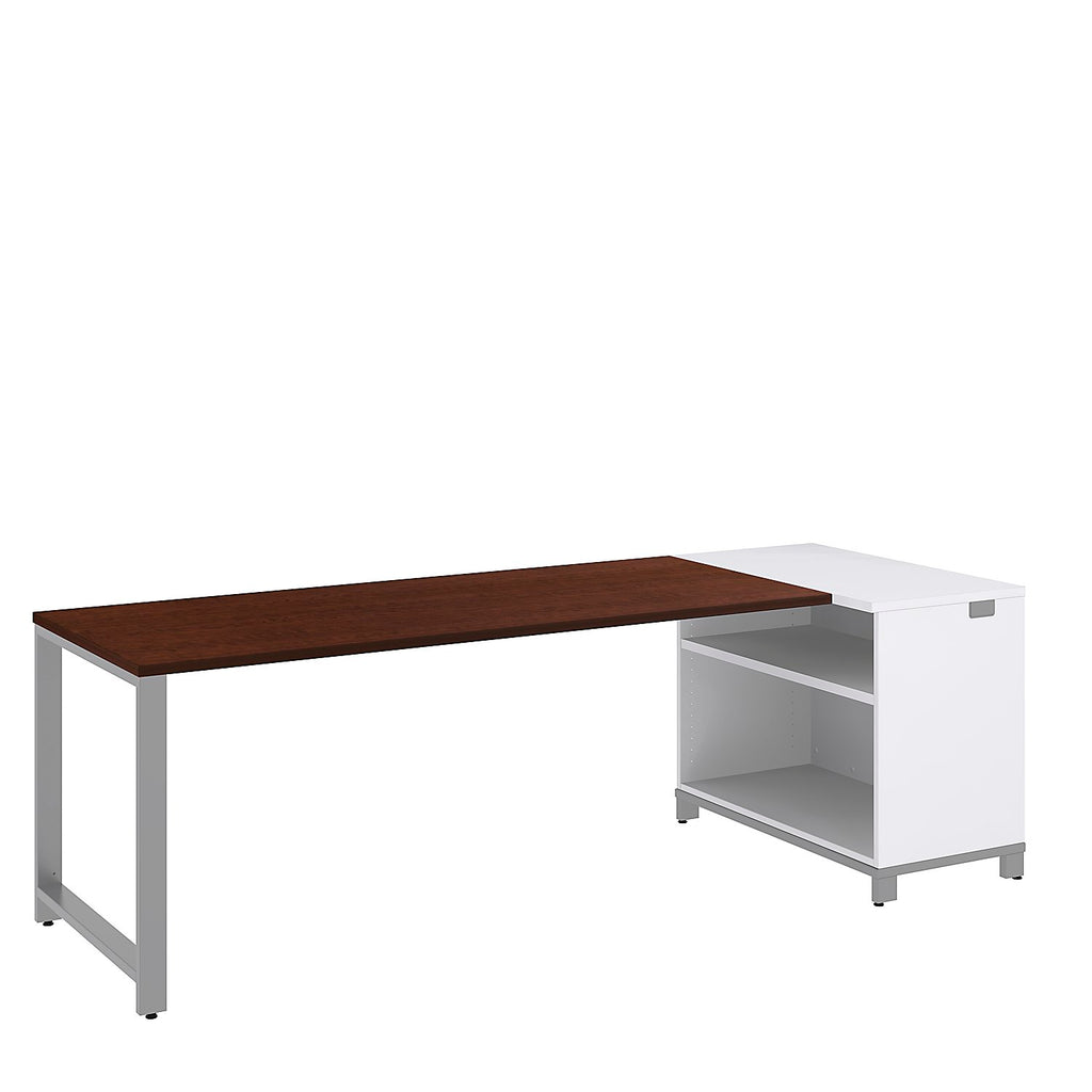 Bush Business Furniture Momentum 72W x 30D Desk with 30H Open Storage in Mocha Cherry ; UPC: 042976010614 ; Image 1
