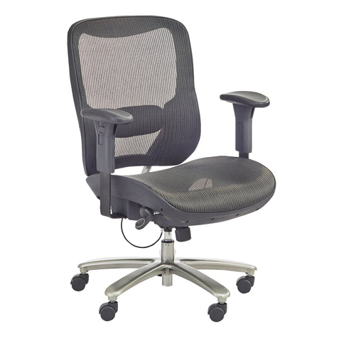 Safco Products Lineage Big & Tall All-Mesh Task Chair, 400 lb. Capacity 3505BL(Image 2)