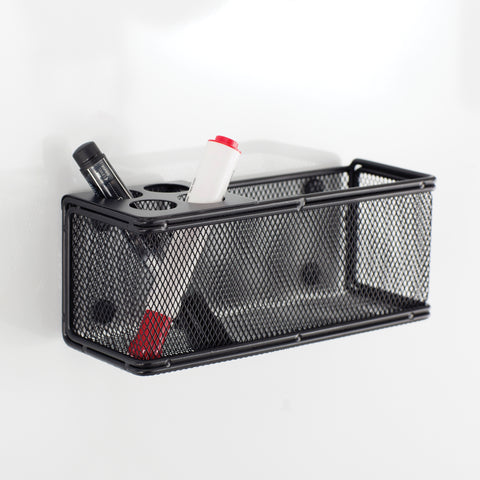 Safco Products Onyx Mesh Marker Organizer with Basket 3612BL(Image 2)