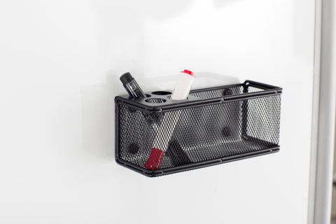 Safco Products Onyx Mesh Marker Organizer with Basket 3612BL(Image 5)