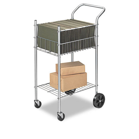 Fellowes Economy Office Cart FEL4092001, Silver (UPC:043859564644)