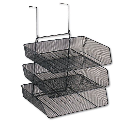 Fellowes Mesh Partition Additions Triple Tray FEL75902, Black (UPC:077511759024)