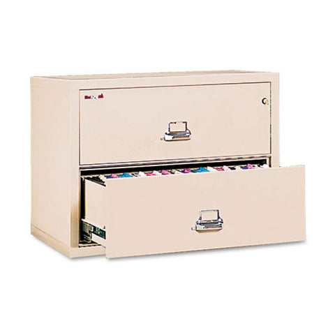 FireKing Insulated 2-Drawer Lateral Records File FIR23822CPA, Tan (UPC:398300073603)