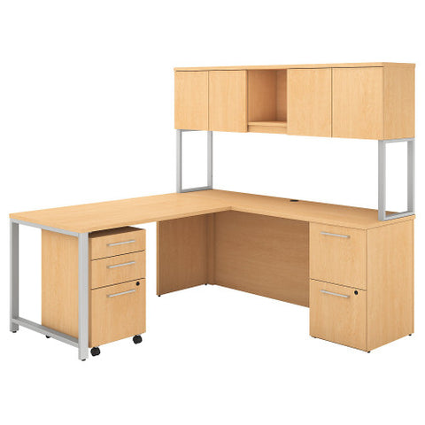 Bush 400 Series 72W x 22D Desk with 48W Return, Natural Maple 400S127AC ; UPC: 042976072759 ; Image 1
