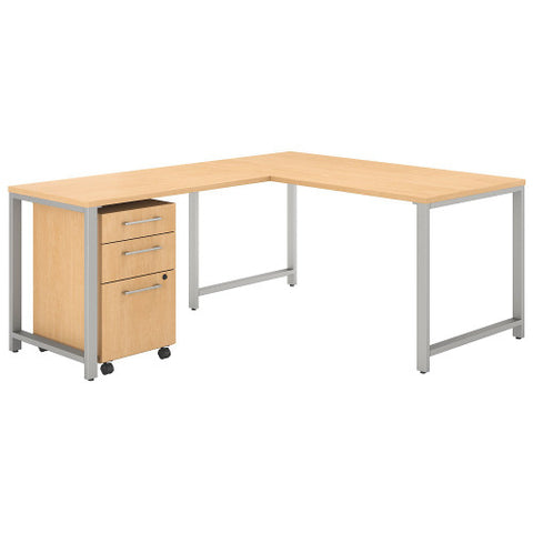 Bush 400 Series 60W X 30D Table Desk with 42W Return, Natural Maple 400S130AC ; UPC: 042976072841 ; Image 1