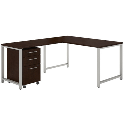 Bush 400 Series 60W X 30D Table Desk w 42W Return, Mocha Cherry 400S130MR ; UPC: 042976072865 ; Image 1