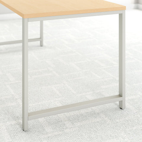 Bush 400 Series 72W X 30D Table Desk with Piler Filer Cabinet, Natural Maple 400S157AC ; UPC: 042976033064 ; Image 3
