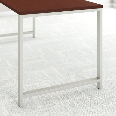 Bush 400 Series 60W X 30D Table Desk w Credenza & 3 Drawer Mobile Ped, Harvest Cherry 400S168CS ; UPC: 042976035150 ; Image 4