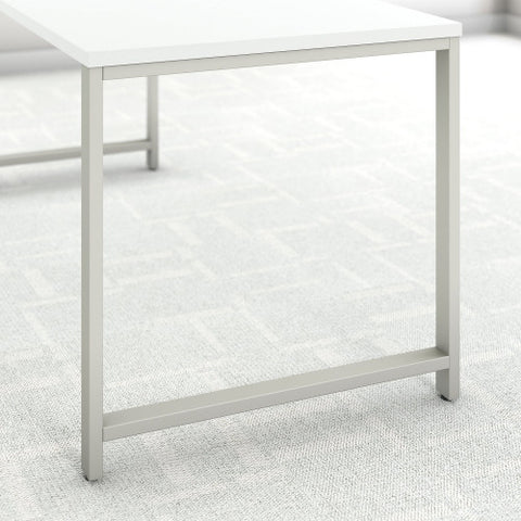 Bush 400 Series 72W X 30D Table Desk w Credenza & 3 Drawer Mobile Ped, White 400S170WH ; UPC: 042976059828 ; Image 4