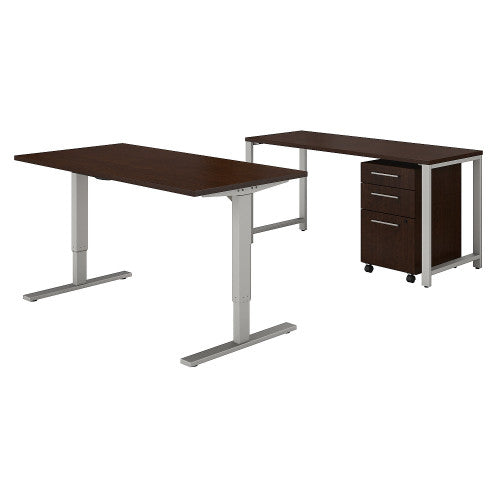 Bush 400 Series 60W Height Adjustable Standing Desk with Storage, Mocha Cherry 400S190MR ; UPC: 042976059316 ; Image 1