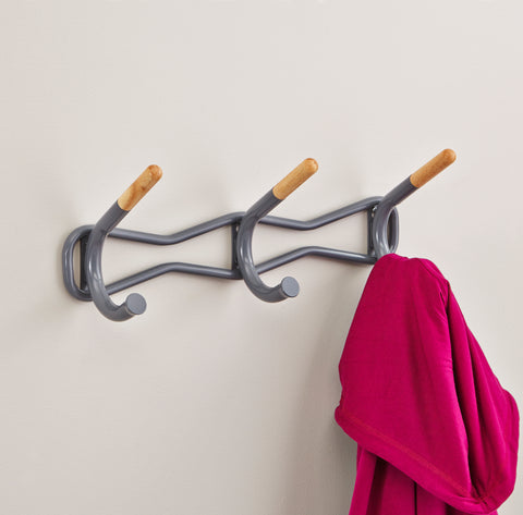 Safco Products Family Coat Wall Rack, 3 Hook 4255CH(Image 4)
