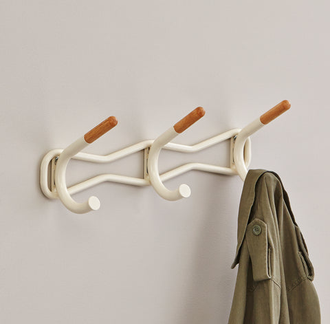 Safco Products Family Coat Wall Rack, 3 Hook 4255CRM Image 5