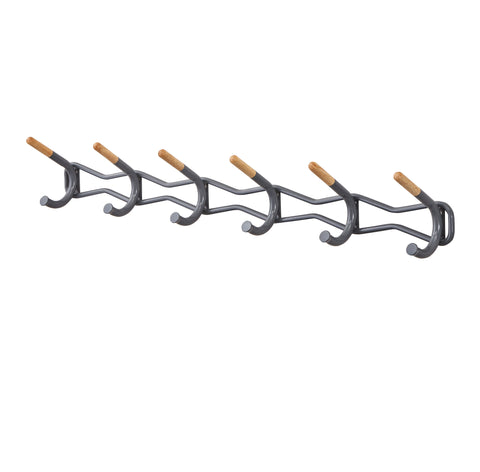 Safco Products Family Coat Wall Rack, 6 Hook 4257CH(Image 2)