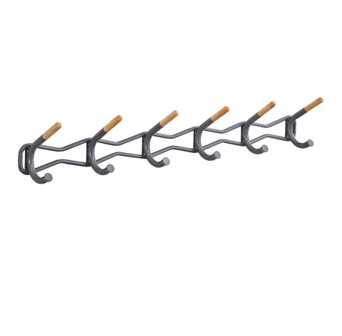 Safco Products Family Coat Wall Rack, 6 Hook 4257CH(Image 1)