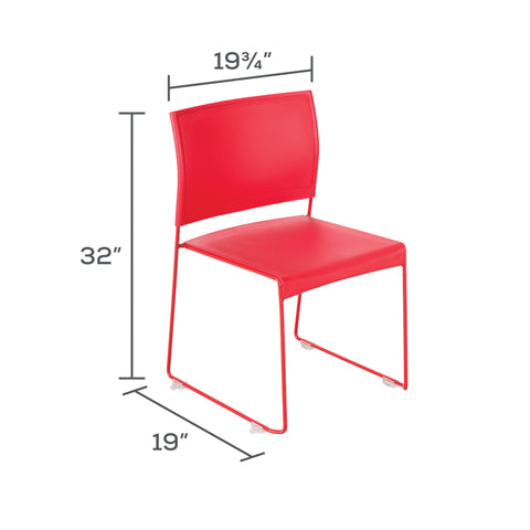 Safco Products Currant™ High Density Stack Chair (Qty. 4) 4271RR Image 4