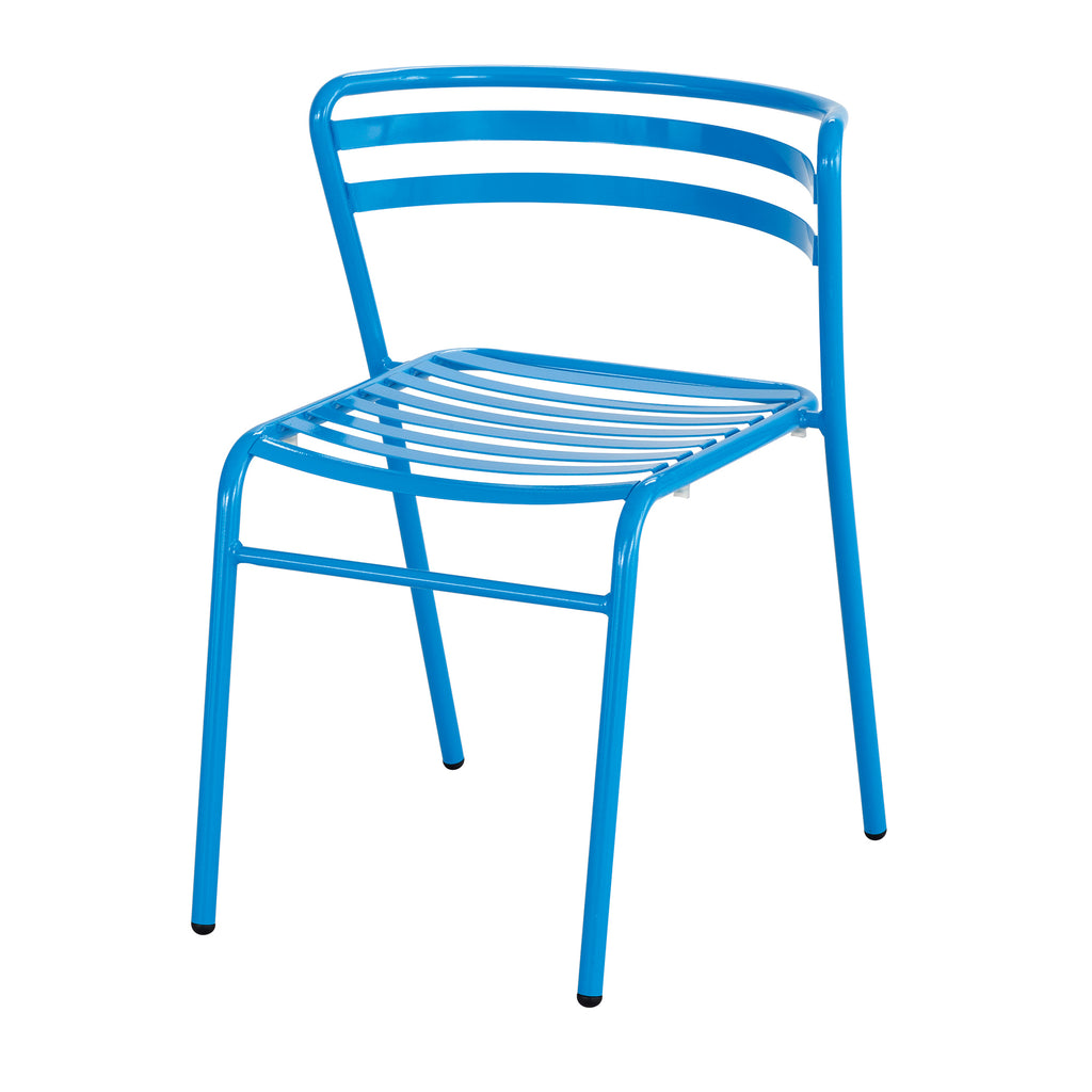Safco Products CoGo Steel Outdoor/Indoor Stack Chair (Qty. 2) 4360BU(Image 1)