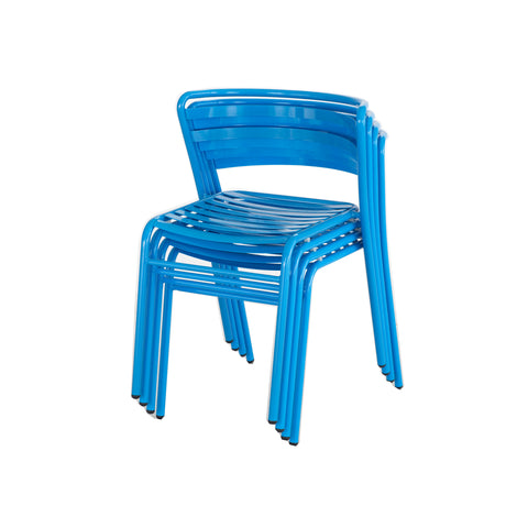 Safco Products CoGo Steel Outdoor/Indoor Stack Chair (Qty. 2) 4360BU(Image 8)