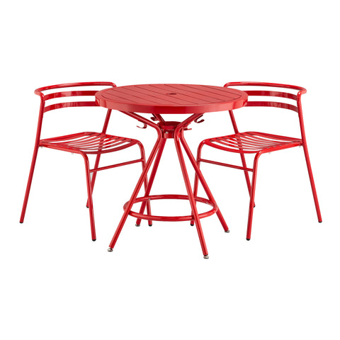 "Safco Products CoGo Steel Outdoor/Indoor Table, Round, 30"" 4361RD(Image 2)"